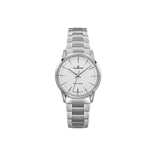 Dugena Damen Funk-Armbanduhr, Saphirglas, Edelstahl-Armband, Edelstahlgehäuse, Momentum, Silber, 4460852