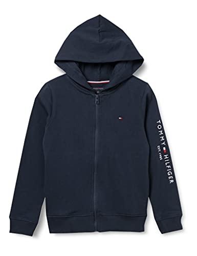 Tommy Hilfiger Jungen Essential Hooded Zip Through Pullover, Twilight Navy, 5
