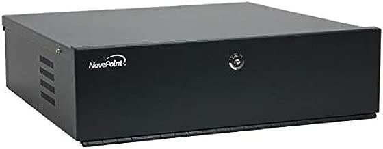 NavePoint DVR Security Heavy Duty Lock-Box with Fan 18 Inch x 18 Inch x 5 Inch Black