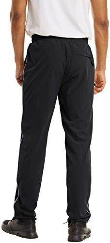 TACVASEN Men's Hiking Pants Quick Dry Lightweight Outdoor Running Climbing Casual Drawstring Jogger Pants with Zipper Pocket