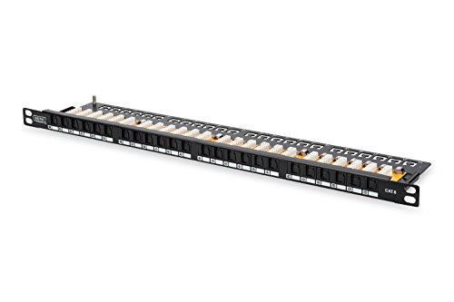 DIGITUS Professional DN-91624U-SL-SH 19 Zoll Patch Panel Kat.6, Klasse E, 24 Port, schwarz