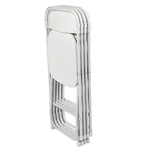 Folding Chair with Molded Plastic Seat and Back- Folding Plastic/Steel Chairs- Premium Quality...