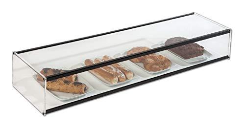 Vitrina neutra expositora alimentos, ideal barra bar para las tapas y aperitivos, largo 1.000 mm.