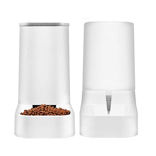WBXNB Alimentador automático de Mascotas, alimentador automático de Comida y Waterer Conjunto 3.8L Viaje Suministro de alimentación y de Agua para el Perro del Gato del Perro casero