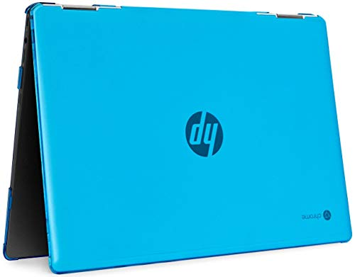 mCover Hard Shell Case for late-2020 14' HP Chromebook X360 14C-caxxxx Series laptops (NOT Compatible with Other HP Chromebook & Windows laptops) (HP Crhomebook 14C-CAxxxx Series, Aqua)