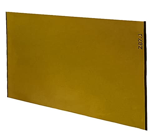 """Gold Coated Green Welding Filter, 2"""" x 4.25"""" (Shade 10)"""