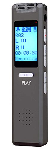 Best Voice Activated Recorder Device for Clear Audio Recording in Meetings, Lectures, 180 Hrs, mp3 Files, Digital Dictaphone Mini Player