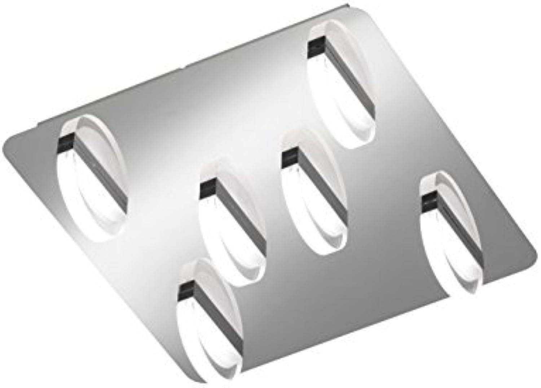 WOFI LED Estera Deckenleuchte, Metall, Integriert, 5 W, Chrom