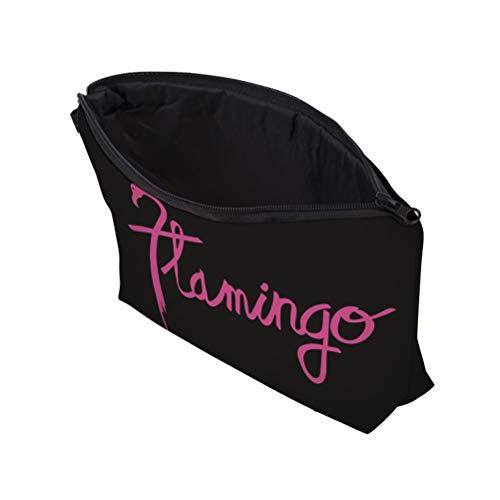 Trousse De Maquillage Flamingo Lettre Trousse À Glissière À Glissière Étanche Poche Bourse Mignon Sac À Main de Bande Dessinée pour Femmes Filles Dames