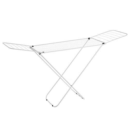 Tendedero plegable con alas blanco de metal de 182x95x47 cm - LOLAhome