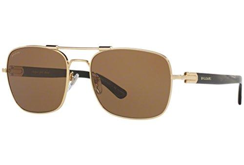Bulgari 0BV5039K 393/83 58 Gafas de sol, Dorado (Gold Plated/Polarbrown), Hombre