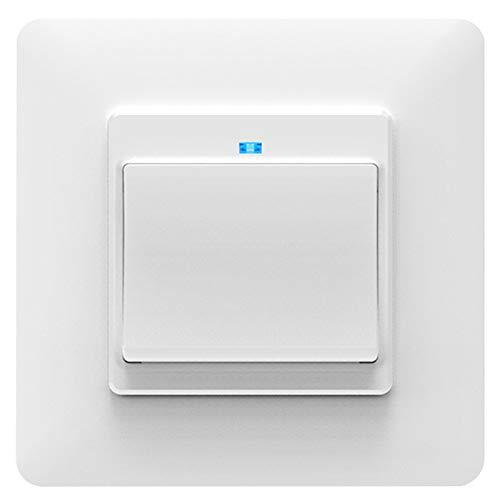 Wivarra Luz Inteligente WiFi Interruptor de Pared Toma de Corriente BotóN Pulsador EU Smart Life Tuya Control Remoto InaláMbrico