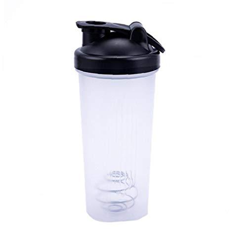 Shaker Cup Plastic Sports Water Bottle Portable Leak-Proof Blender Multifunctional Shake Cup BlackFor Life
