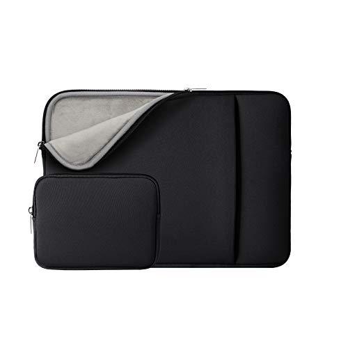RAINYEAR 11-11,6 Zoll Laptop Hülle Sleeve Gepolsterte Laptophülle Schutzhülle mit Fronttasche & Zubehör Tasche Kompatibel 11,6 MacBook Air für 11 Notebook Chromebook(Schwarz,Aktualisierte Version)