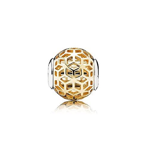 Auténtica Pandora 925 Cuentas De Plata Esterlina Diy Encanto De Intuición De Oro Apto Para Mujeres De Moda Pulsera De Esencia Brazalete Joyería De Regalo