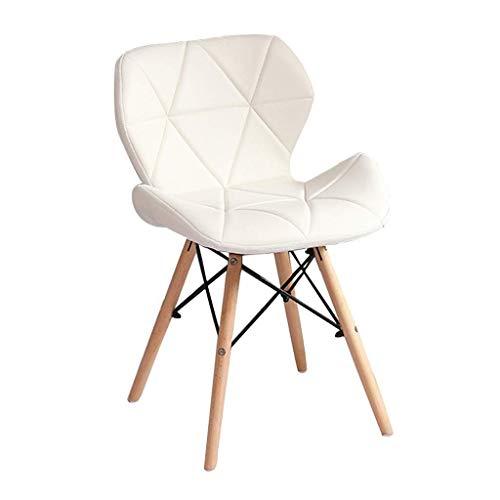 Living Decoration Stühle Holz Esszimmerstuhl Weiches Kissen und Rückenlehne für Lounge Makeup Stühle Home Office Faux Leathe Hocker. Laden Sie 150 kg (Farbe: G)