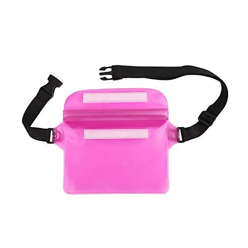 Samine Bolsa impermeable de la bolsa de la funda del teléfono seco ajustable correa de la cintura playa