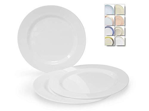 Einwegteller aus Kunststoff, für Hochzeit, Party, 40 Stück, plastik, Farbe: Weiß, 6'' Dessert / Bread Plate