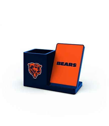 NFL Chicago Bears Wireless Charger and Desktop Organizer, Team Color