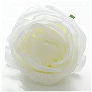 White Artificial Silk Peony Rose Flowers Hydrangea Bridal Bouquet Wedding Valentine's Day Party Home DIY Decoration Flower Heads