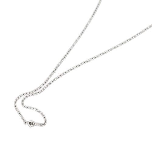 [ルビイ] プラチナ Pt850 小豆 チェーン ネックレス 幅1.6mm 長さ60cm