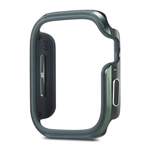 TPU+Aluminum Alloy Frame Cover for Apple Watch Case 44MM 40MM Protective Fashion Bumper Shell for iWatch Series 6/5/4/SE