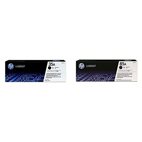 HP 35A CB435A, Negro, Cartucho Tóner Original, de 1.500 páginas, para impresoras Laserjet P1005 y P1006 + 85A CE285A Negro, Cartucho Tóner Original, de 1.600 páginas, para impresoras Laserjet