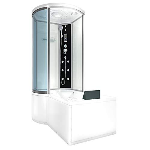 AcquaVapore DTP8055-A003R Whirlpool Wanne Duschtempel Dusche Duschkabine 98x170 JA mit 2K Scheiben Versiegelung