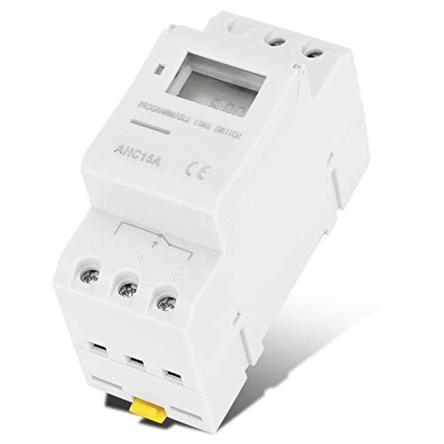 BOLORAMO Interruptor de Tiempo Temporizador Seguro de Encendido y Apagado con Pantalla LCD(DC12V)