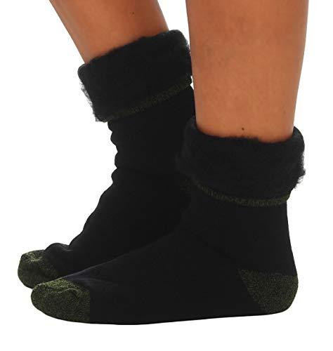 Cleostyle Collection Thermo Herren Damen Socken, extra warme Winterstrümpfe -25°C / 23 (47-50, Schwarz/Tarn)