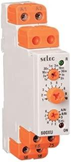 Selec Controls 600XU-A-1-CU Analog Rail Timer, DIN, 17.5 mm W x 90 mm H x 60 mm D