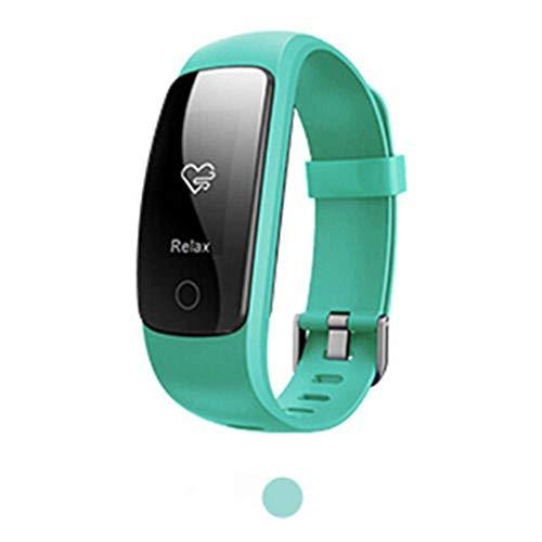 LWPCP Smart Watch ID107 Plus Pulsómetro Pulsera Monitor para Android iOS,Green