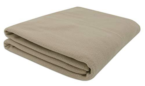 ZOLLNER pluche deken, 130x170 cm, ecru (meer beschikbaar)