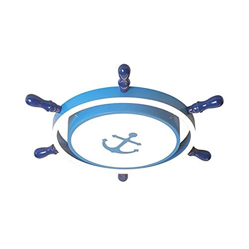 Lámpara De Techo Para Habitación Infantil Plafón Led De Techo Niños Niñas Cuarto Dormitorio Luz Blanca Azul D-65Cm Luz De Timón Para Todos Los Partidos