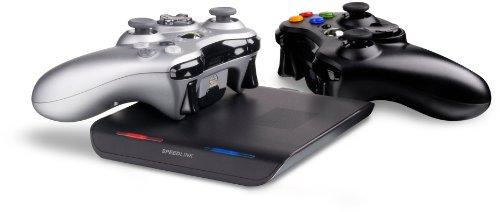 Speedlink Zone Xbox 360 kontaktlose Induktions Ladestation (zwei Akku-Sets inklusive, bis zu 32 Stunden Spielzeit)