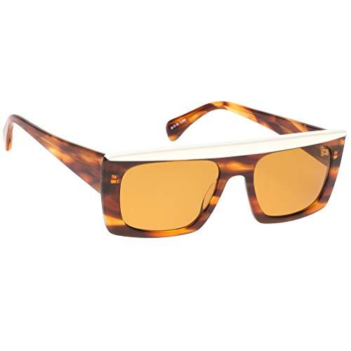 Kaleos - Gafas de sol modelo Casswell color C 04, montura de acetato de color marrón claro, estilo unisex