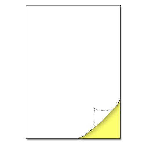 210 x 297 mm, 25 Blatt, A4 Aufkleber Etiketten Selbstklebend matt - 1 Stück pro Blatt