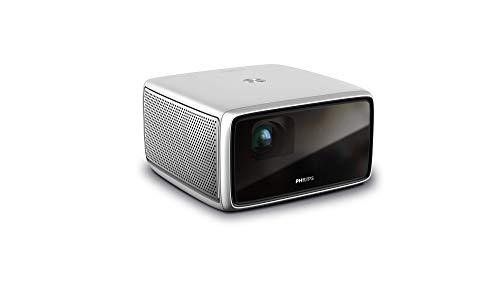 Philips Screeneo S4, Full HD Todo en uno, HDR, Corto Alcance, Pantalla de hasta 120', proyector de Cine en casa, hasta 1800 lúmenes de Color, Android, Aplicaciones, Auto Keystone, Enfoque automático