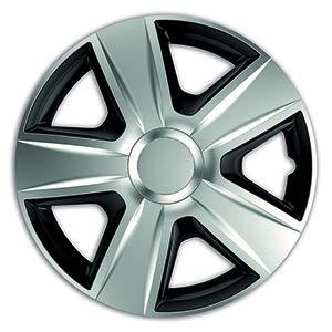 Universele wieldoppen geschikt voor elk voertuig SPROVVISTA velg van een legering. Kan met gemakkelijk te verwijderen MoLTA (Esprit DC Silver E Black,15).