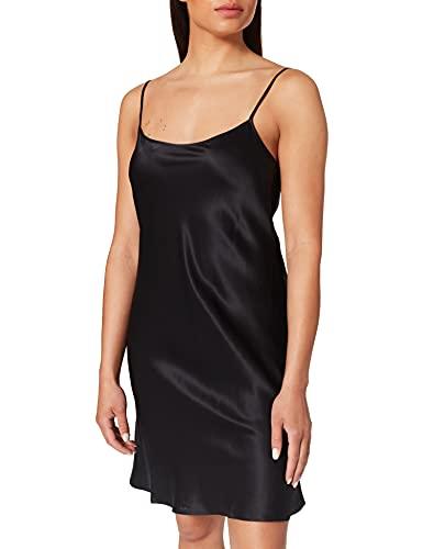 Palmers Damen Seide Silky Nights Nachthemd, Schwarz (Schwarz 900), 36 (Herstellergröße: S (36-38))