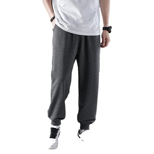 Yikesnt Hombres Deportes Casual Pantalones Primavera y Otoño Al Aire Libre Jogging Color Sólido Juventud Cómodo Todo Partido Pantalones, 1, 27-32