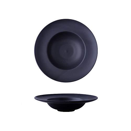 WULAU Plato para Pasta,Plato de Pasta de Cerámica Vajilla de Cerámica Nórdica-5 Colores