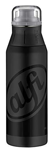 alfi Trinkflasche Edelstahl 900ml - elementBottle Stylle Black - auslaufsicher, spülmaschinenfest, BPA-Free,  5357.126.090