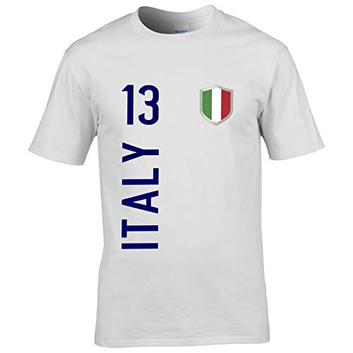 FanShirts4u Herren Fanshirt Jersey Trikot Italien Italia Italy T-Shirt inkl. Druck Wunschname u. Wunschnummer EM WM (3XL, Italy/weiß)