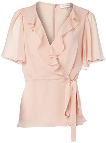 Calvin Klein Damen Short Sleeve Bluse, Blush, X-Large