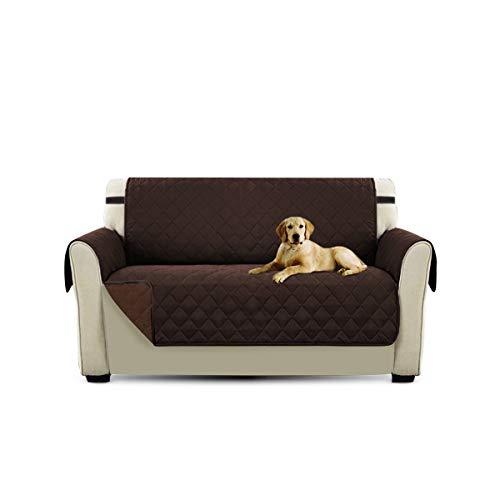PETCUTE Sofaschoner 2 sitzer Couch überwurf couchbezug sofaüberzug Sofa Schutz Sofa Abdeckung 3 sitzer Sofaüberwurf Braun