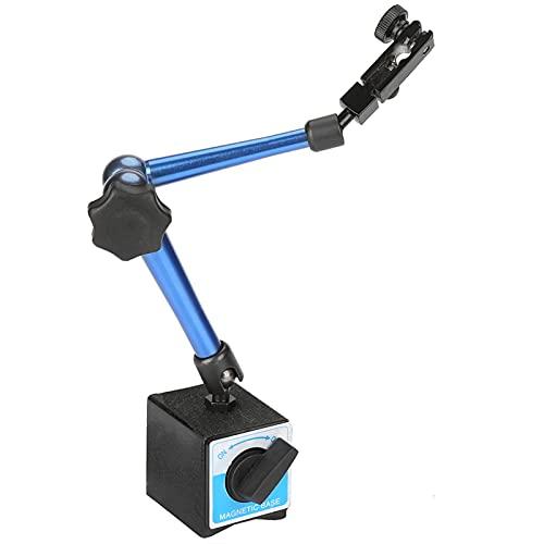Base de indicador magnético, soporte de indicador magnético fácil de fijar Soporte de soporte de base magnética con imán permanente para indicador de prueba de dial