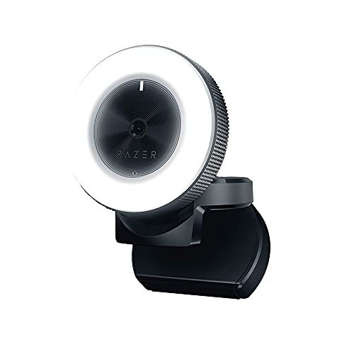 Razer Kiyo 1080p 30 FPS/720 p 60 FPS Streaming Webcam with Adjustable Brightness Ring Light,...