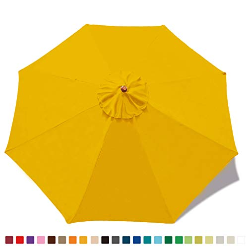 Mastercanopy - Lona de repuesto para sombrilla redonda de 2,74 cm con 8 rayos, solo se vende la lona, más de 30colores