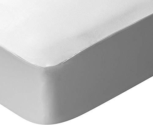 Pikolin Home Lyocell matrasbeschermer, extra zacht, ademend en waterdicht, wit 180 x 190/200 cm, 180 x 180 cm